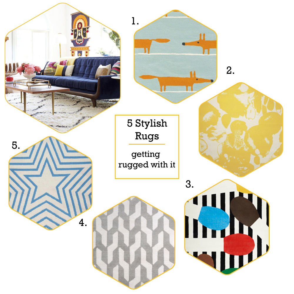 5 stylish rugs for your home.