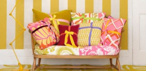 Pretty little cushions all wrapped up.