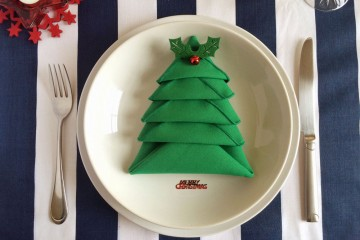 Christmas tree napkin