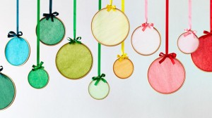Christmas coloured hoops