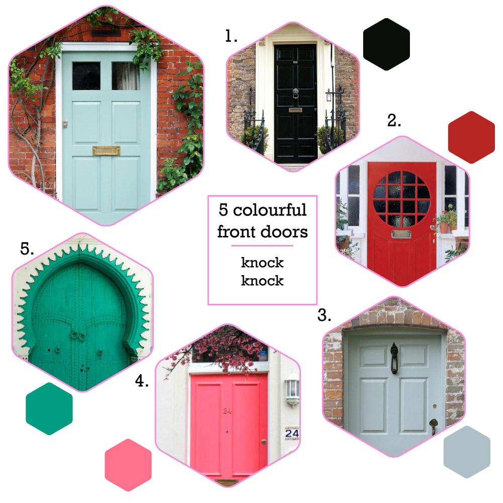 5 colourful front doors to choose from