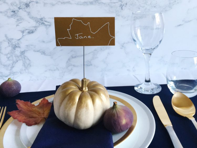 How to: do an easy personalised Autumn table