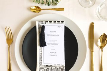 Monochrome Wedding Table Setting
